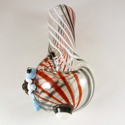 Handmade Glass Pokeball and Squirtle Pipe