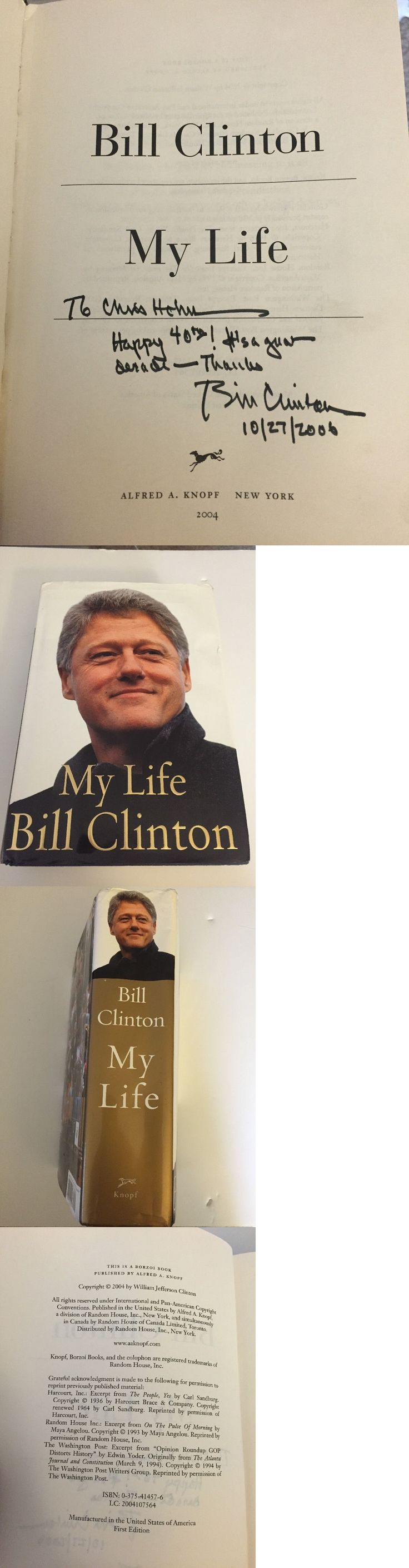 Bill Clinton: President Bill Clinton Signed And Inscribed Book - My Life - To Chris Hohn -> BUY IT NOW ONLY: $450 on eBay!