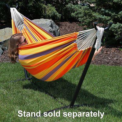 sunnydaze premium 100   natural tightly woven cotton double brazilian hammock 78 best hammocks images on pinterest   hammock hammocks and      rh   pinterest