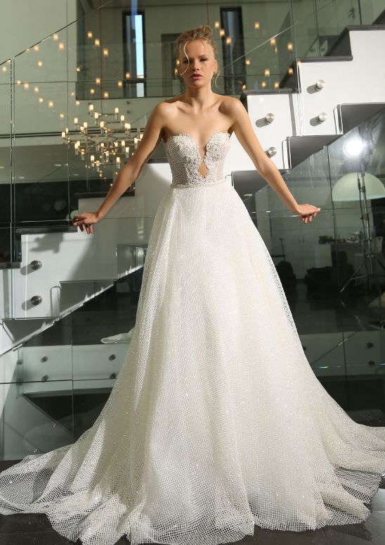 Featured Dress: Michal Medina; Wedding dress idea.