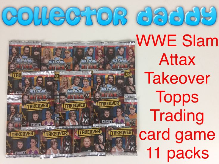 WWE Slam Attax Takeover trading card game 11 packs opened https://youtu.be/w1eYt-CocOw