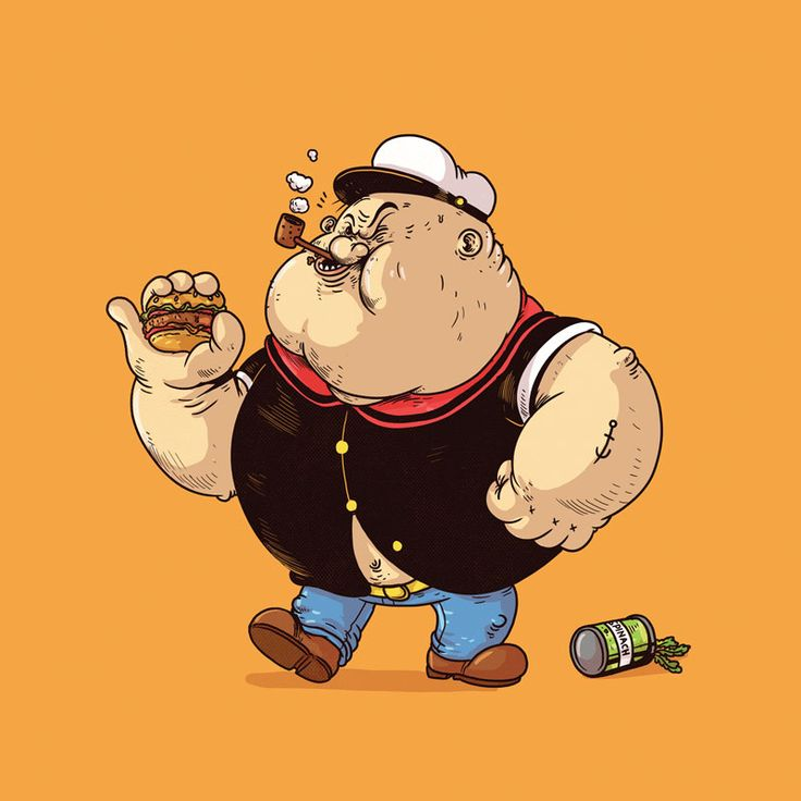 Popeye from The Famous Chunkies series by artist Alex Solis.