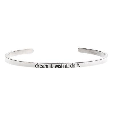 'Dream it. Wish it. Do it' #LilyAnneDesigns #bracelet #inspiration #Silver