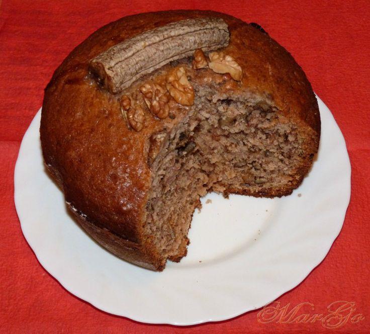 Gallery.ru / Пирог с бананами и грецкими орехами - Сладкая выпечка, торты, десерты - MrG
