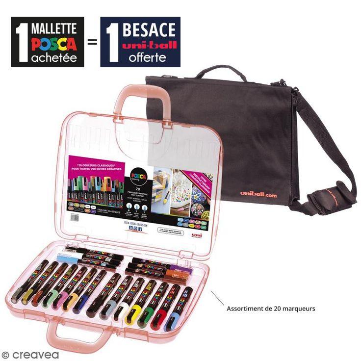 Compra nuestros productos a precios mini Oferta Especial: Maletín de 20 rotuladores Posca Trendy Colors + Bandolera negra Uniball - Entrega rápida, gratuita a partir de 89 € !