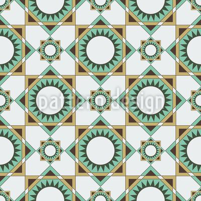 Square Shapes and Suns Pattern Design Pattern Design by Elena Alimpieva at patterndesigns.com