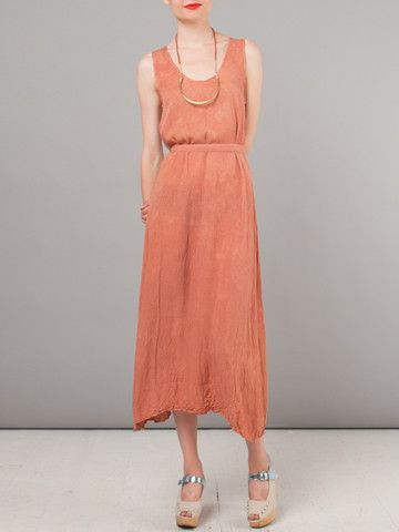 Salmon Geronimo Desert Dress by Jesse Kamm