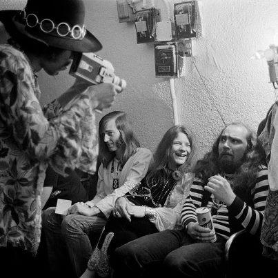 "Hendrix & Joplin 2 members of ""Club 27"" in a frame"