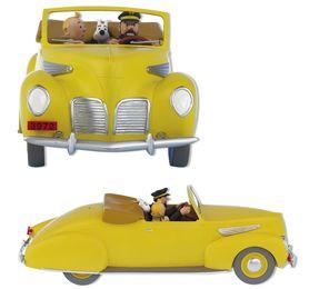 Tintín y el Lincoln Zephyr Cabriolet de Moulinsart es una figura de edición limitada a 2.000 ejemplares numerados en todo el mundo de escala 1:14.