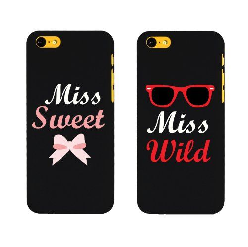 BFF Phone Covers Miss Wild and Miss Sweet Matching Phone Cases for Iphone 5C Gift for Best Friends by 365 in love