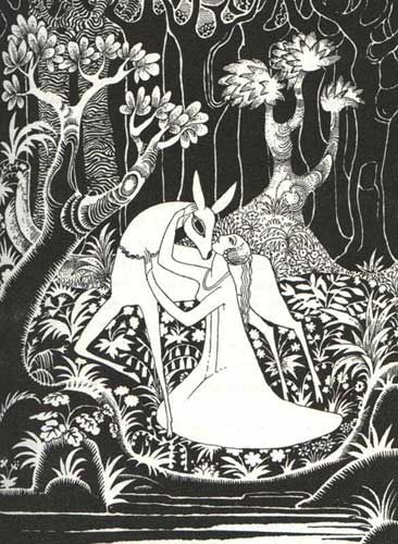 Grimm, Jacob and Wilhelm. Hansel and Gretel and Other Stories by the Brothers Grimm. Kay Nielsen, illustrator. London: Hodder and Stoughton, 1925.