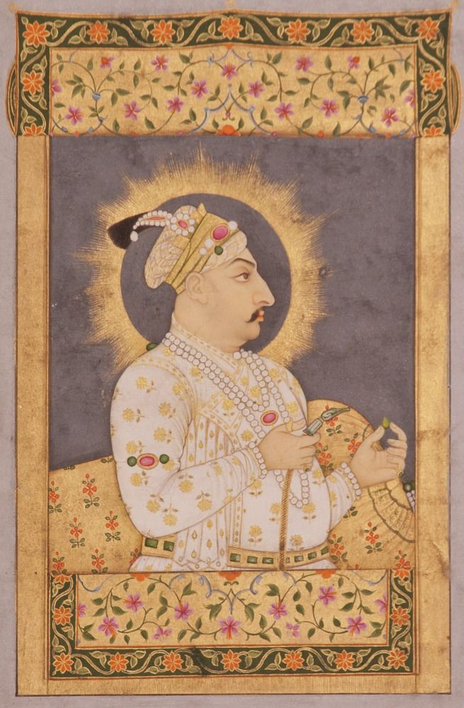 Jharokha portrait of Muhammad Shah