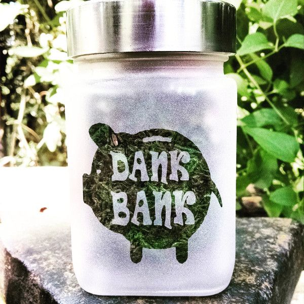Piggy Dank Bank Etched Glass Stash Jar Birthday Gifts for Smokers 420... ($25) ❤ liked on Polyvore featuring home, home decor, small item storage, money bank, money box, green jars, green home decor and pig money box