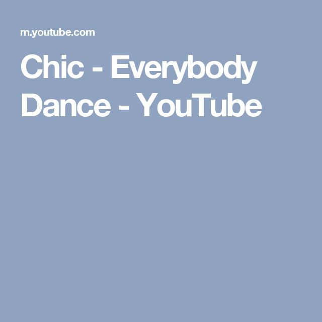 Chic - Everybody Dance - YouTube
