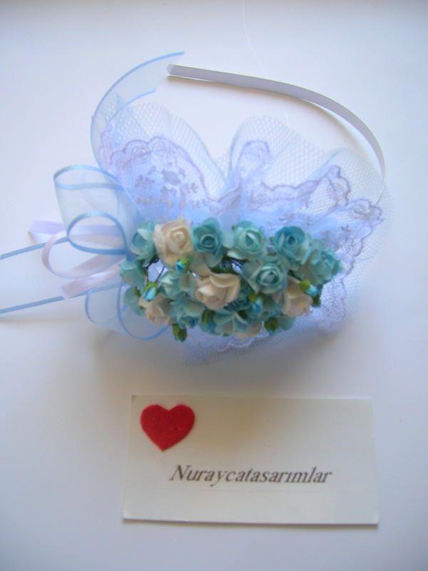 Mavi Çiçekli Lohusa Tacı