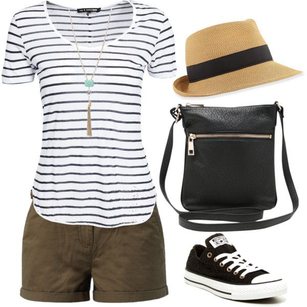 Sightseeing outfit by minmcd on Polyvore featuring polyvore, fashion, style, rag & bone, Converse, M&Co and Eric Javits