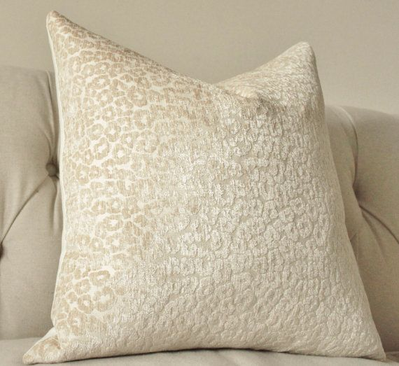 Decorative Pillow Ivory Designer Pillow Cover Neutral Vanilla Cream Textured Throw Pillow