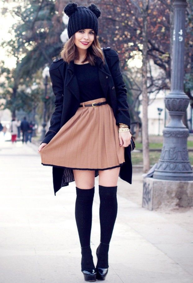 How to Wear Knee High Socks: 19 Stylish Outfit Ideas - 19 Best Thigh High Socks Outfits♥ / Knee High Images On Pinterest