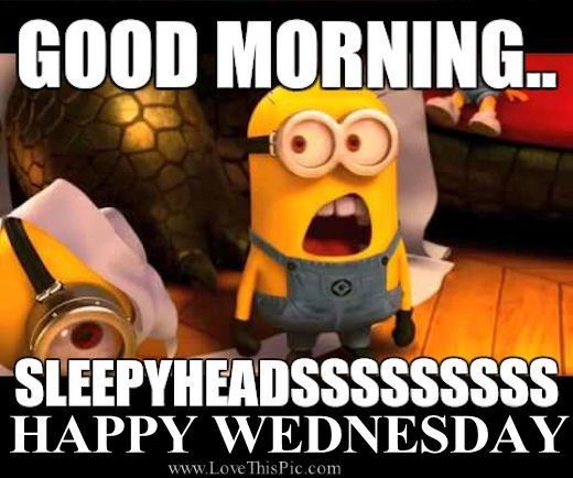 Good Morning Meme Wednesday : Good morning wednesday quotes quote minions