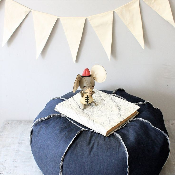 Denim Ottomans   Cool Upcycling Projects   POPSUGAR Smart Living
