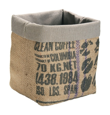 recycled jute firewood tote - Firewood Carrier