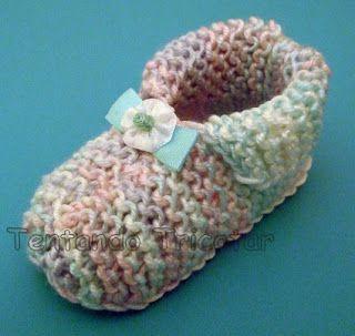 Tentando Tricotar: Pantufinha para bebê