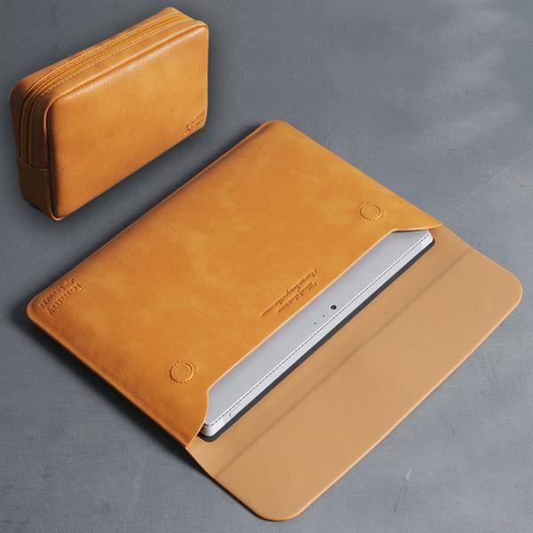 Bestchoi Pu Leather Laptop Sleeve Bag For Macbook Air 13 3 Case Pro 13 Cover Women Men 13 3 Inch Laptop Case F Leather Laptop Sleeve Macbook Laptop Accessories