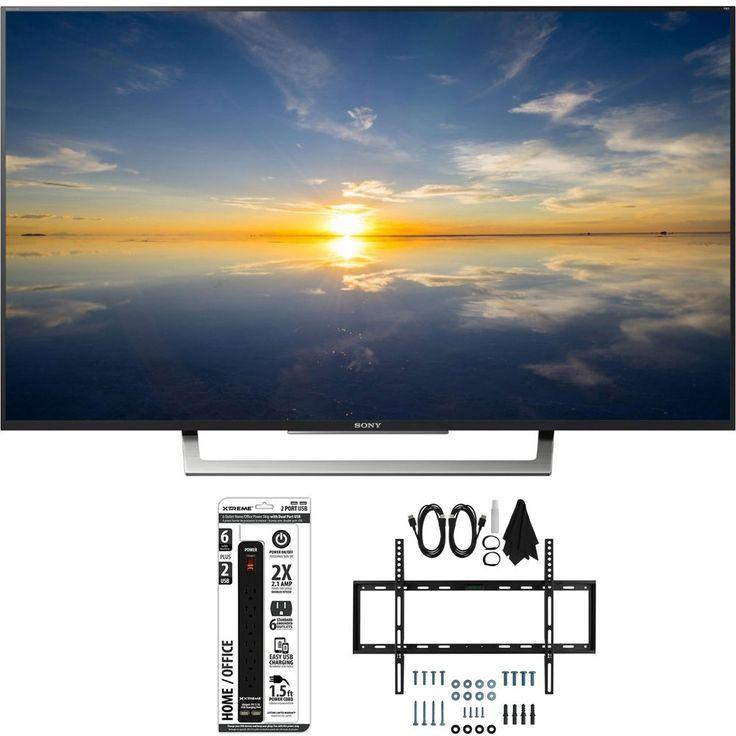 Sony XBR-43X800D  43 Class 4K HDR Ultra HD TV w/ Slim Bundle