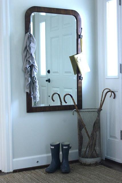 front entryway mirror/coat rack