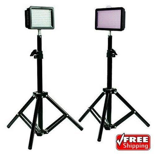 LimoStudio 160 LED Camera DSLR Camcorder Video Light Kit W/ Mini Stand Set Of 2 | Cameras & Photo, Lighting & Studio, Continuous Lighting | eBay!