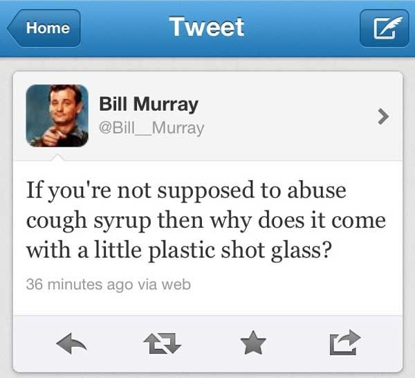 And this is why I named my corn snake Bill Murray. =)