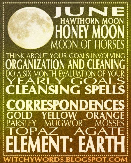 June Honey Moon esbat ritual goals and spell work ideas #wicca #pagan #moon