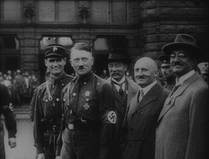 Adolf Hitler, Rudolf Hess and Julius Streicher in Nuremberg, 1927