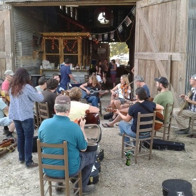 Jam session during the Black Pot Camp at Lakeview Park and Beach in Eunice, La.