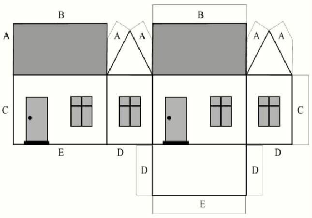 Картинки как делать домик из бумаги