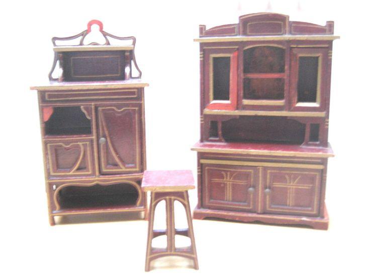 Antike Boule Möbel Für Die Puppenstube