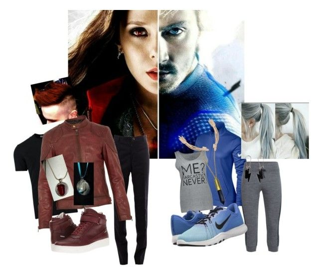 """""""Maximoff Twins"""" by that-doodling-fangirl ❤ liked on Polyvore featuring Dolce&Gabbana, Thom Browne, Belstaff, Calvin Klein, NIKE, Icebreaker, Zara Taylor and Humble Chic"""