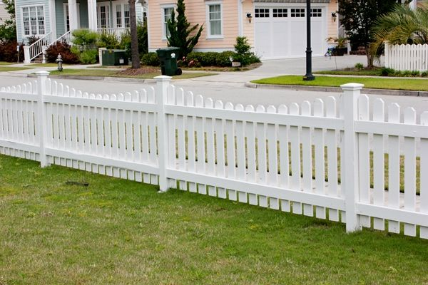 Wood Picket Fence Scalloped