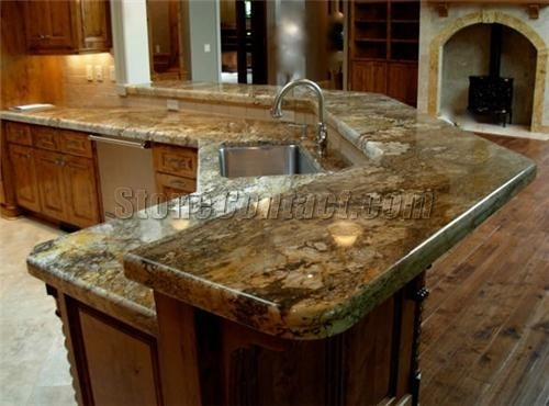 Giallo Persia Granite Countertop Canada Kitchen