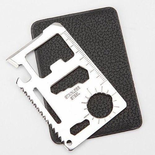 Multi-tool stainless steel card. Perfect gift for dads and those on the tools.