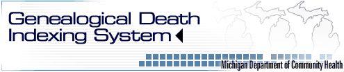 Michigan Genealogical Death Index covers 1867-1897