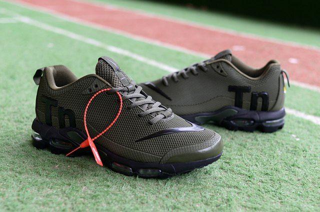 Nike Mercurial Air Max Plus Tn Tpu Olive Green Black Sneakers