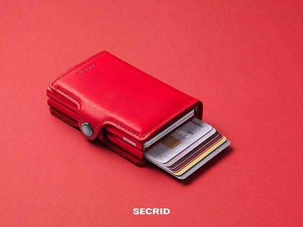 SECRID Twinwallet mit RFID-Technik in original rot