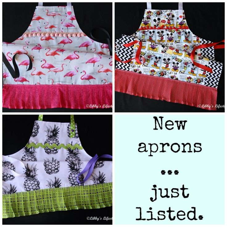 Newly listed aprons to add to your Santa list.