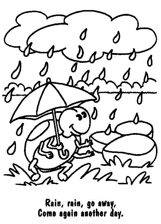 Week 10 Coloring Page Rain Jack