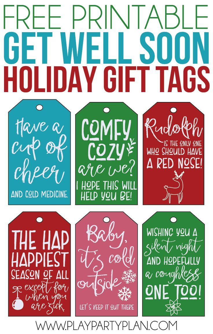Funny Get Well Soon Gifts And Printable Gift Tags