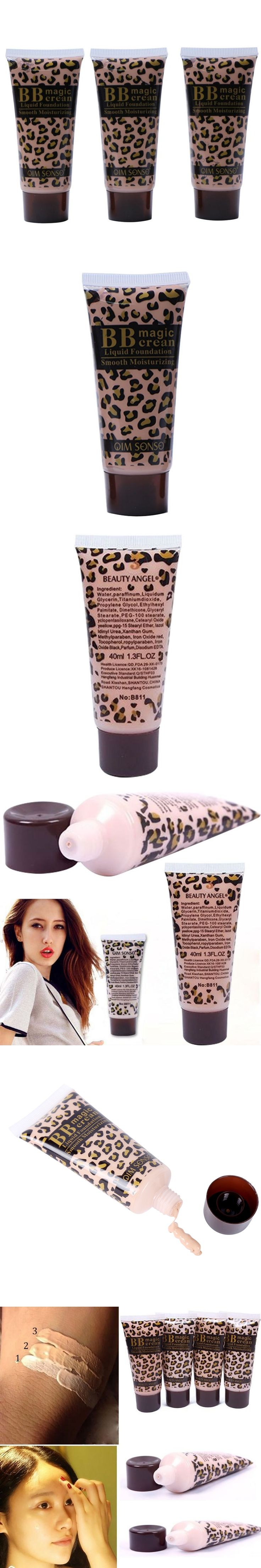 Leopard Useful BB Cream Foundation Makeup Smooth Moisturizing face whitening