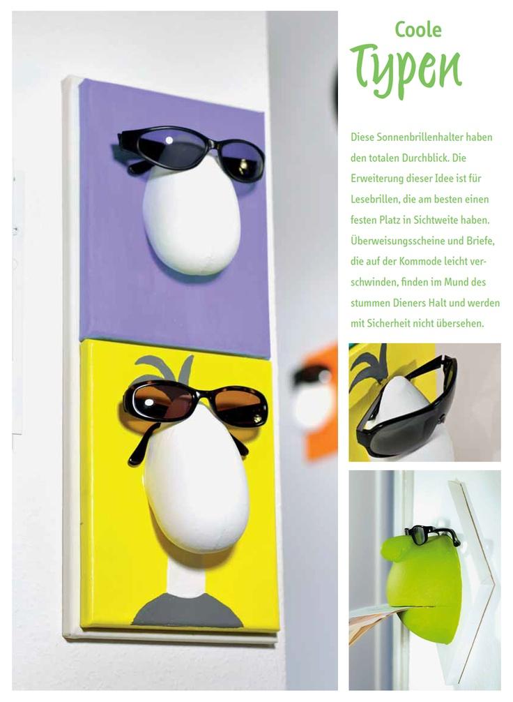 Brillenhalter - Diese und andere Bastelanleitungen finden Sie unter: http://www.hse24.de/Thema/Beratung/Bastelanleitungen.html