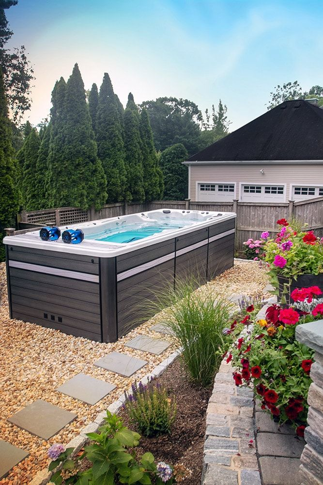 Are You Wondering How To Get Your Hoa To Approve Your Pool Alternative While Many Areas And Hoas Require Permits To Ins Swim Spa Hot Tub Outdoor In Ground Spa
