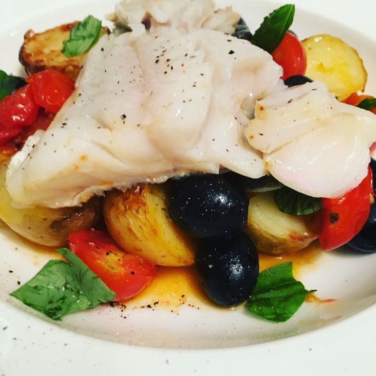 Roasted Cod with Tomatoes, Potatoes & Olives   everyday food